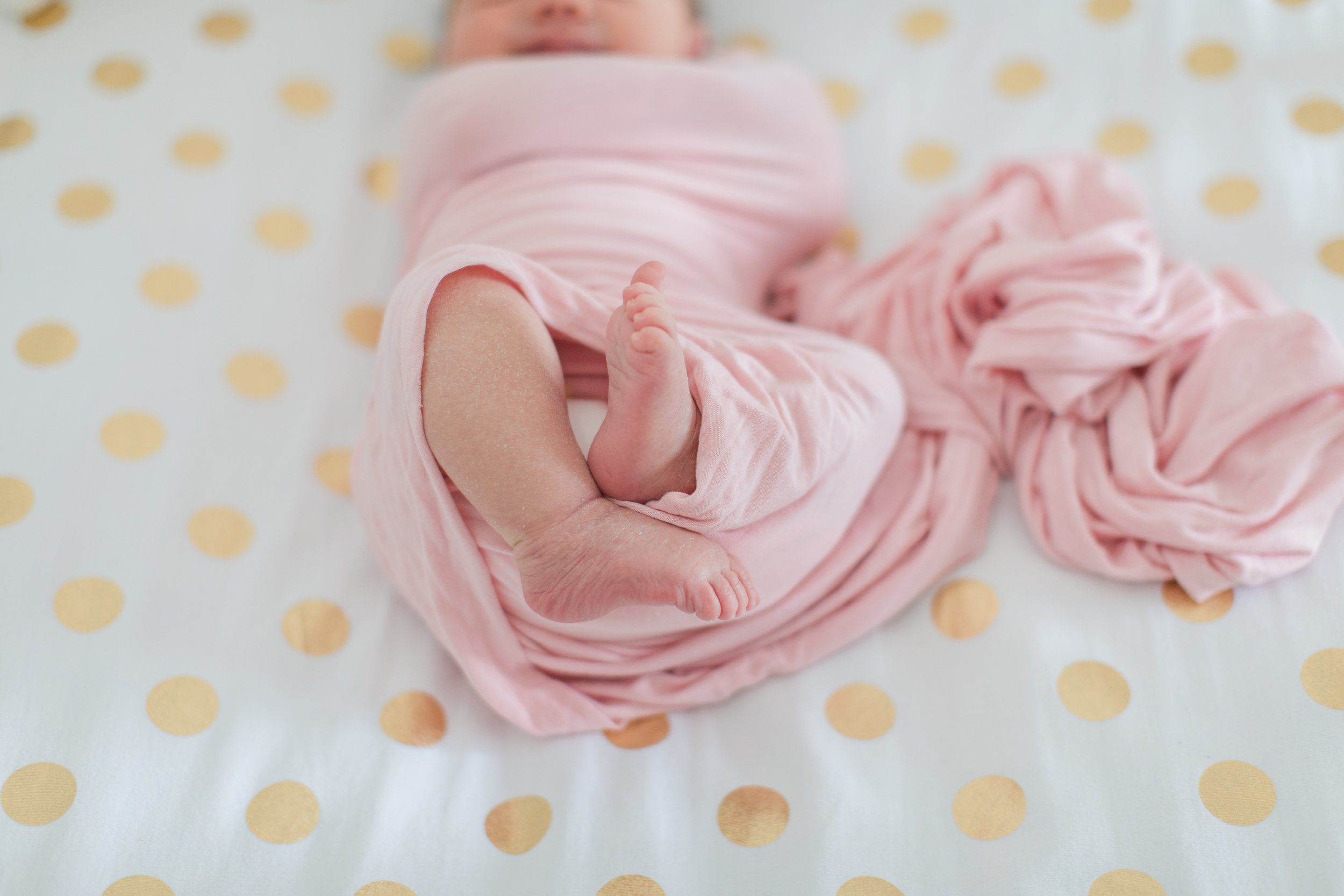 Newborn baby girl feet