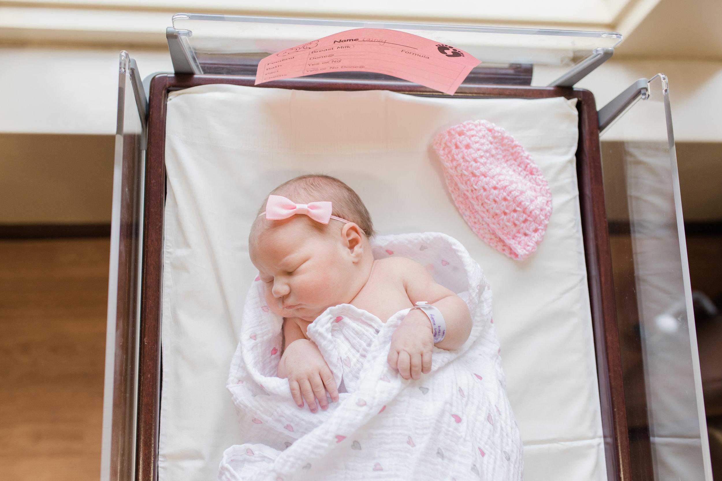 Fresh 48 Of Baby Girl In Bassinet