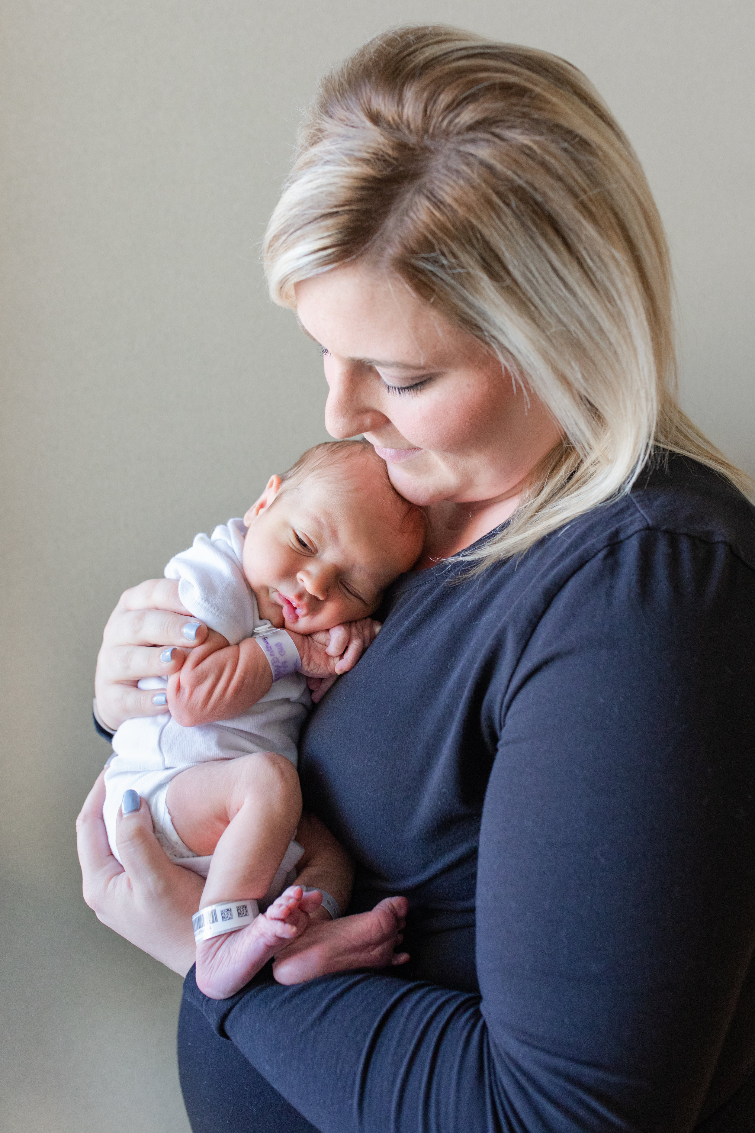 Newborn Boy and Mom