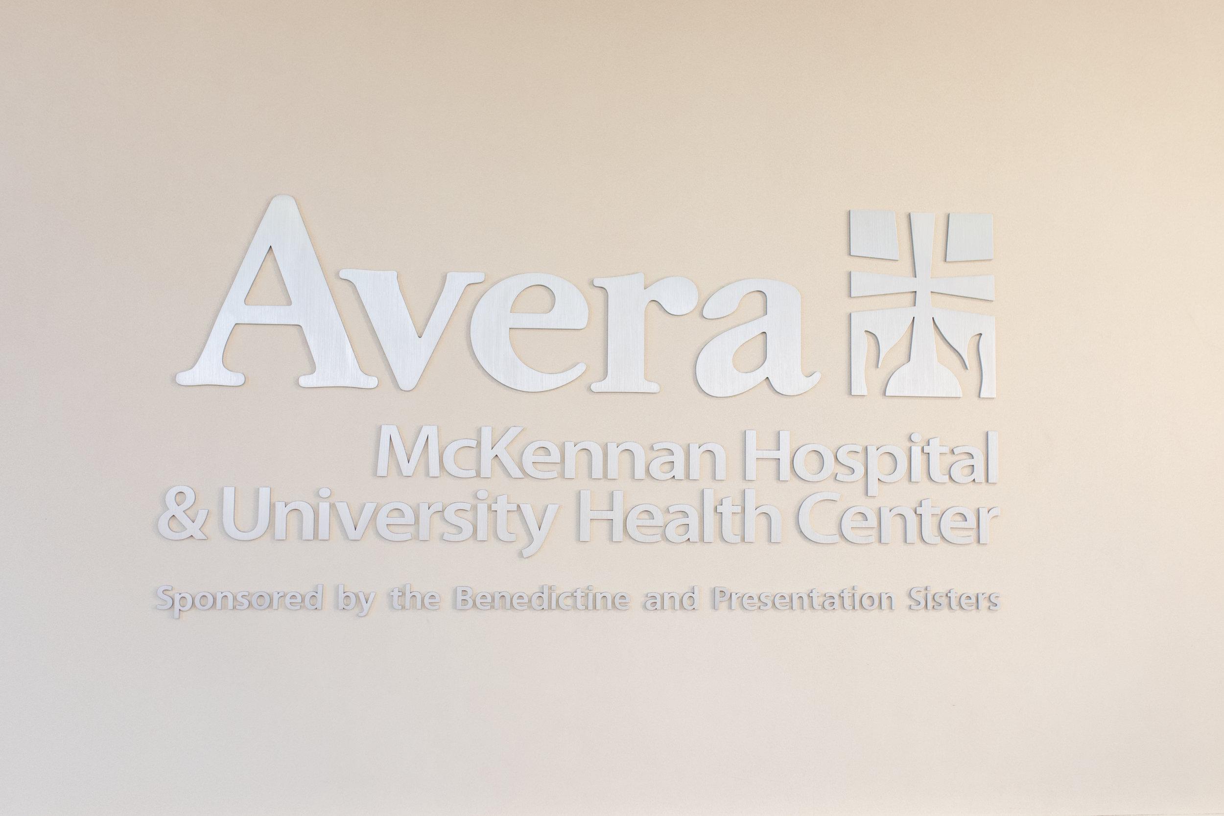 Avera McKennan Hospital Sign