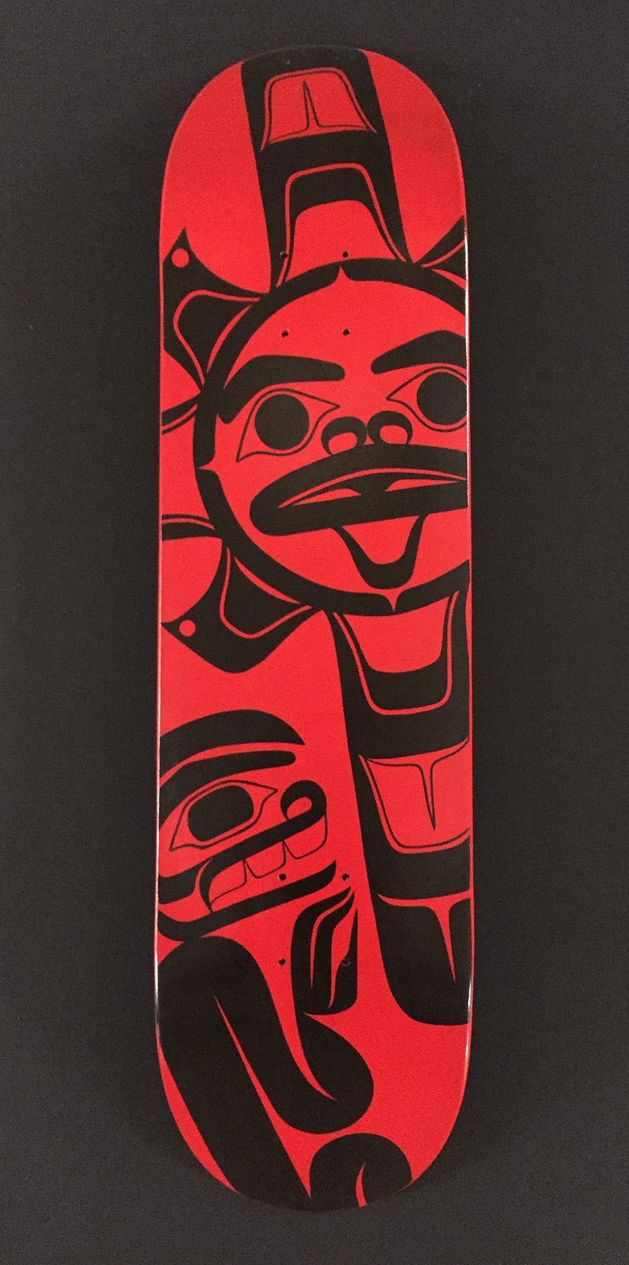 """""""Sun"""" / Skateboard Deck, Acrylic"""