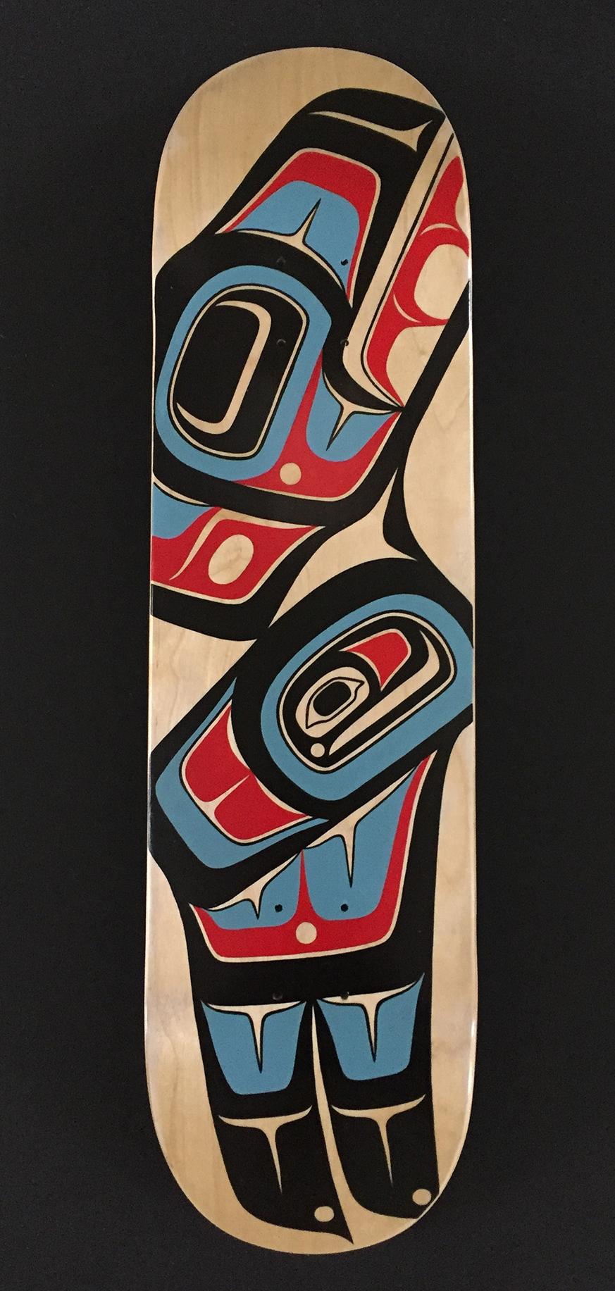 """Raven"" / Skateboard Deck, Acrylic"