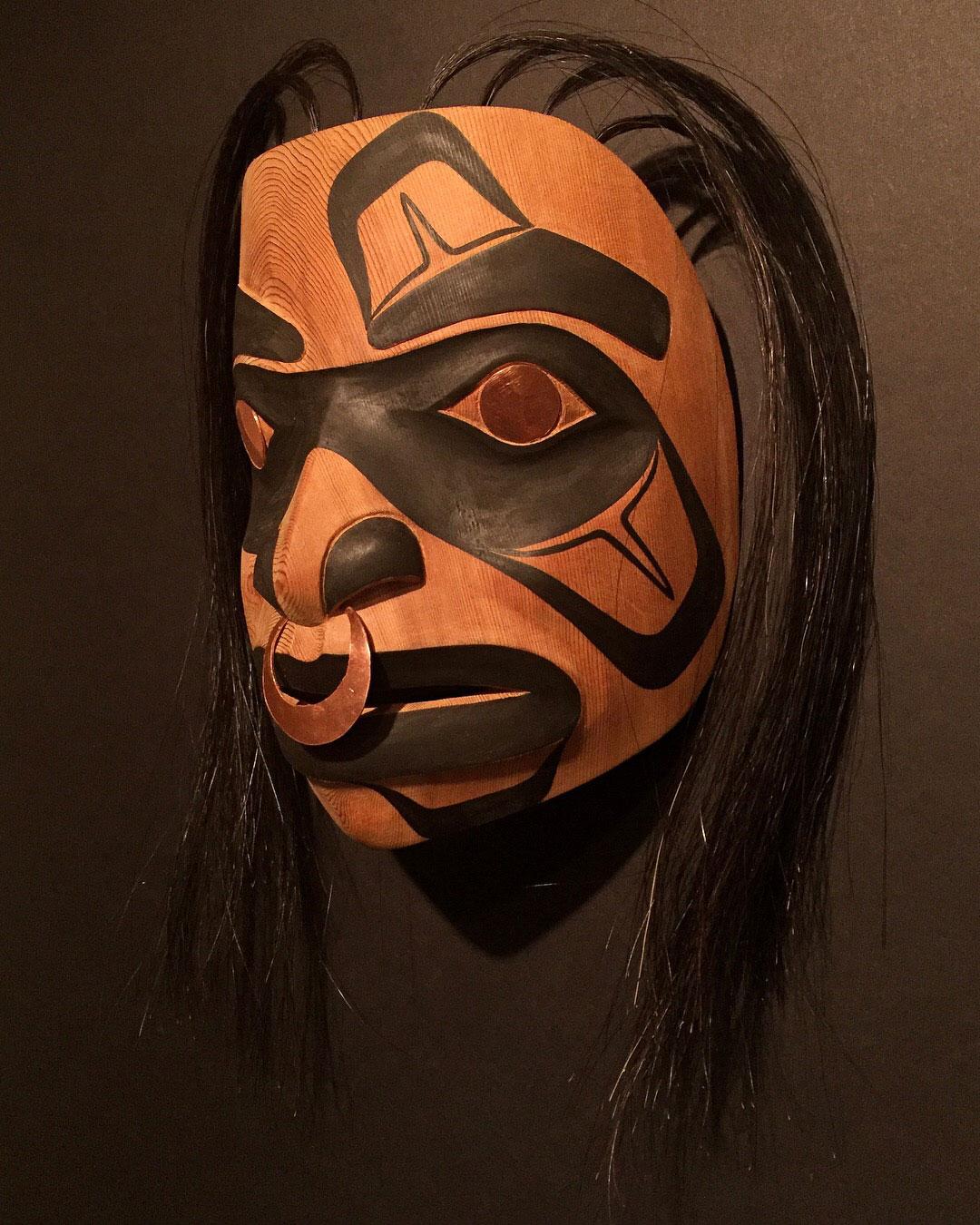 """Spirit Guardian"" / Red Cedar, Horse Hair, Copper"