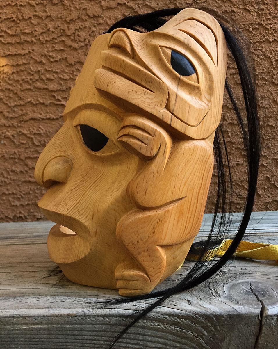 """""""Bear Mother"""" Mask / Red Cedar"""