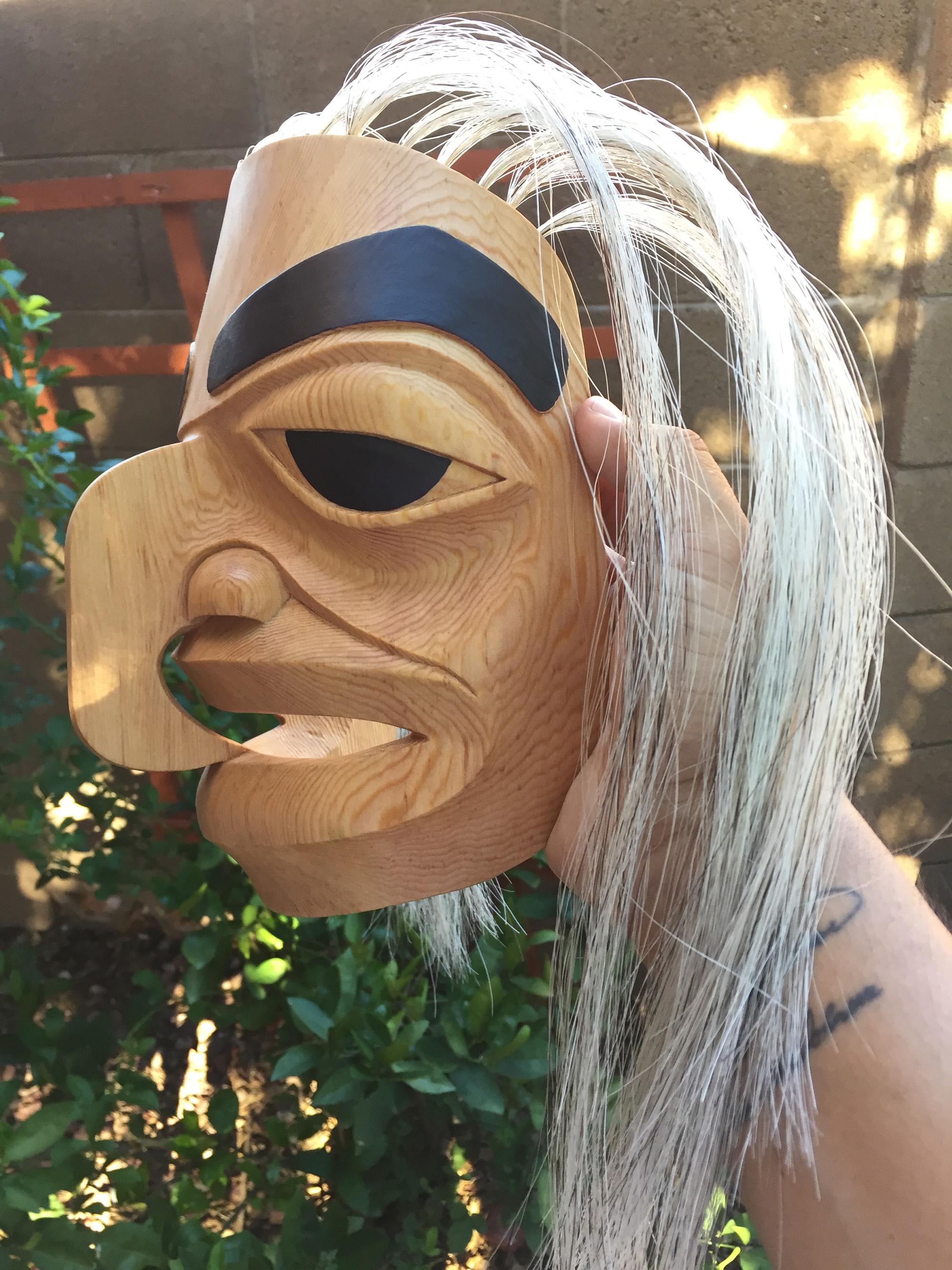 Hawk Mask / Red Cedar