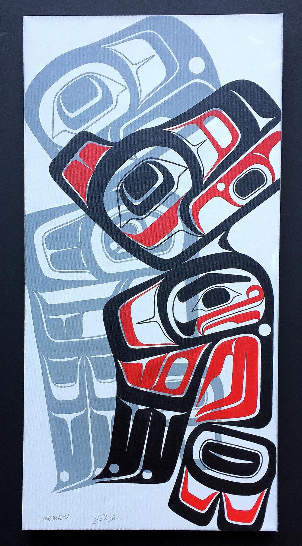 """""""Love Birds"""" / Acrylic on Canvas"""