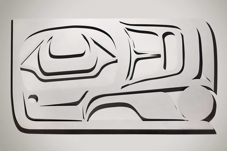 """White Raven"" / 6' x 4' Steel, Lacquer"