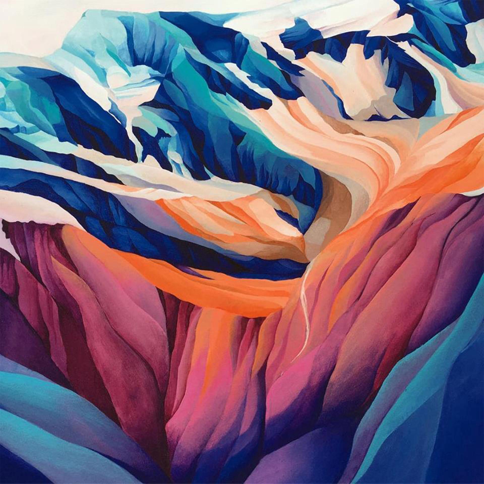 Iuna Tinta - Lauterbrunnen Valley - Acrylic on Canvas