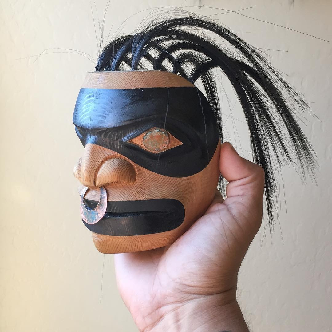 Spirit Mask / Yellow Cedar