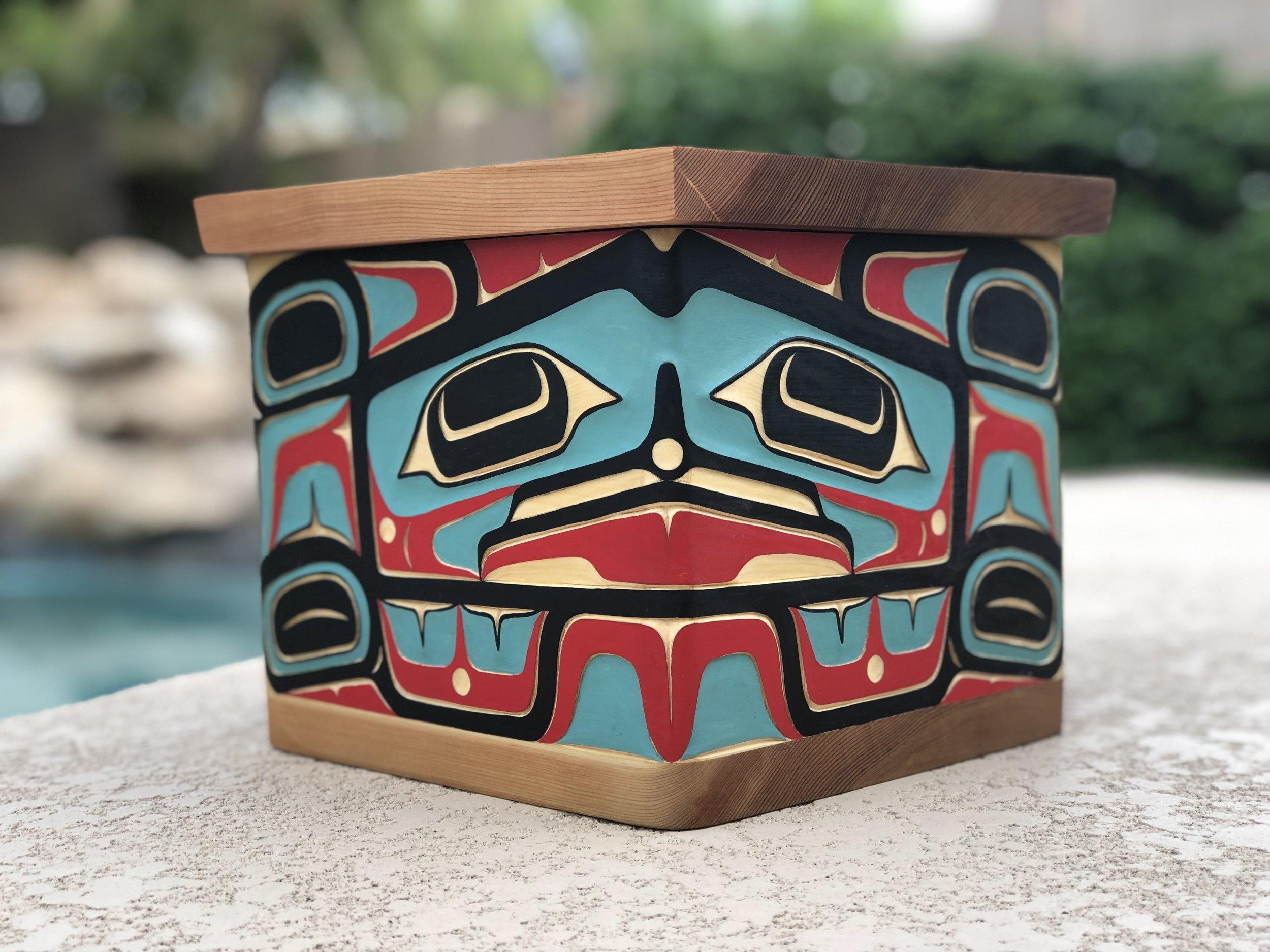 Bentwood Box / Yellow Cedar,Red Cedar / *2019 SWAIA Sante Fe Indian Market 1st Place Wood Sculpture