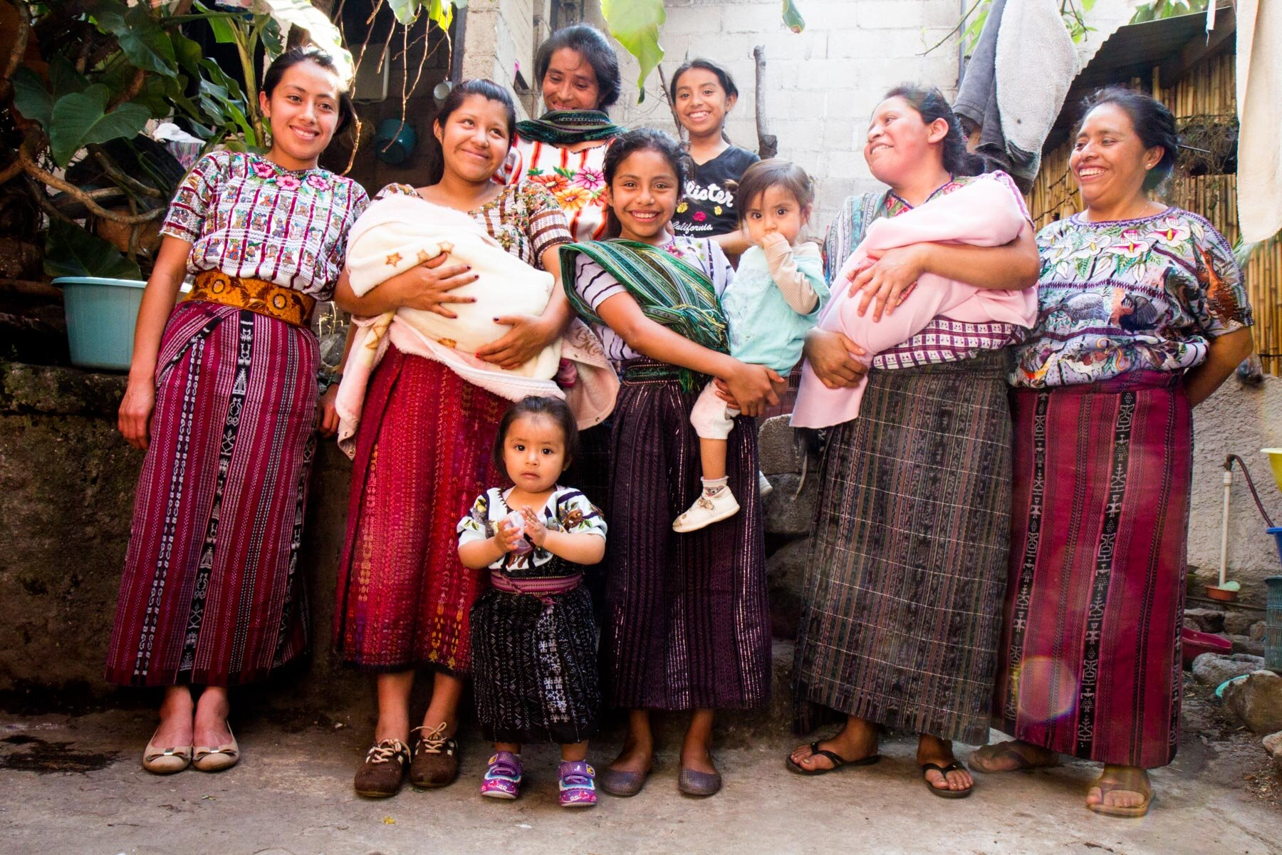 Mothers and their children in Guatemala who have received care from Saving Mothers.