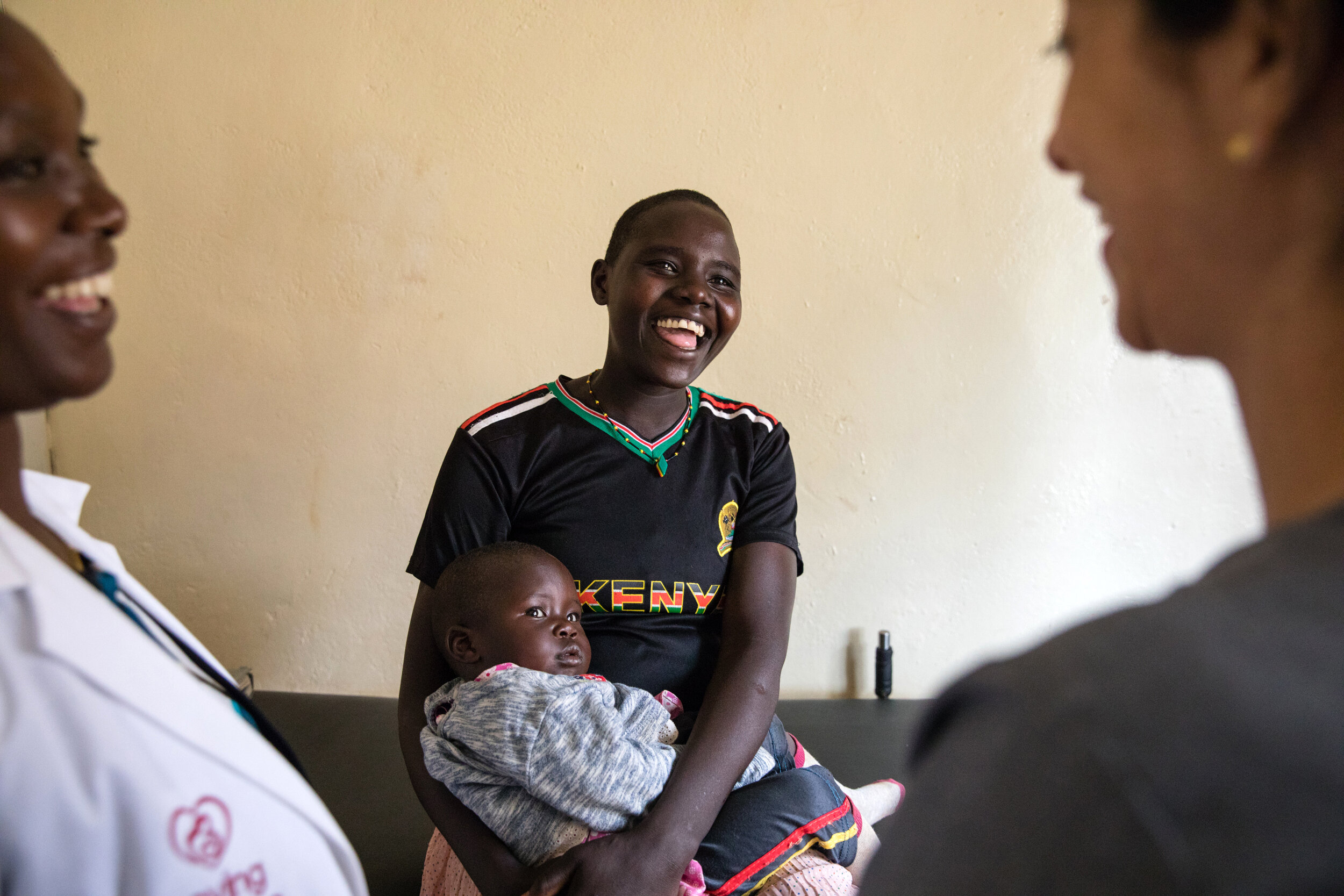 A Kenyan mother and her baby who received care from Saving Mothers.