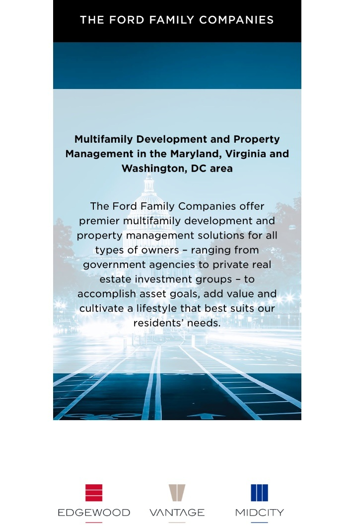 "Pictured: front page of the ""Ford Family Companies"" mobile website."