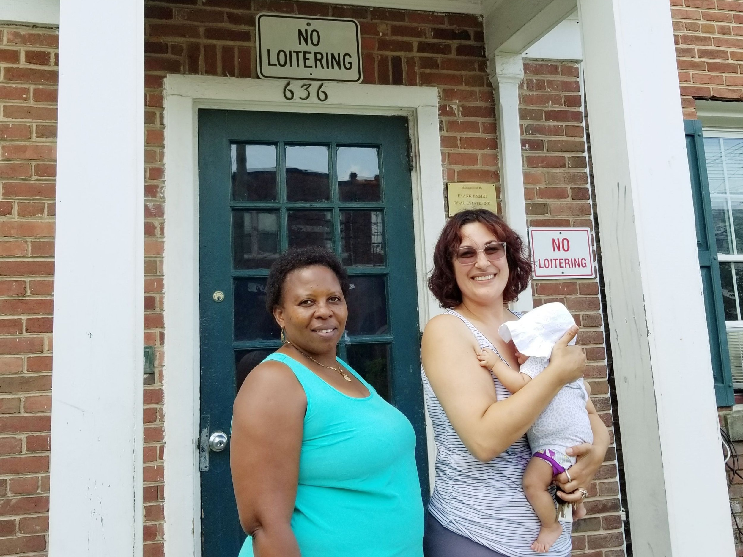 Residents Joy Hazuka and Heather Benno, members of the 636 Girard St. NE Tenants Association