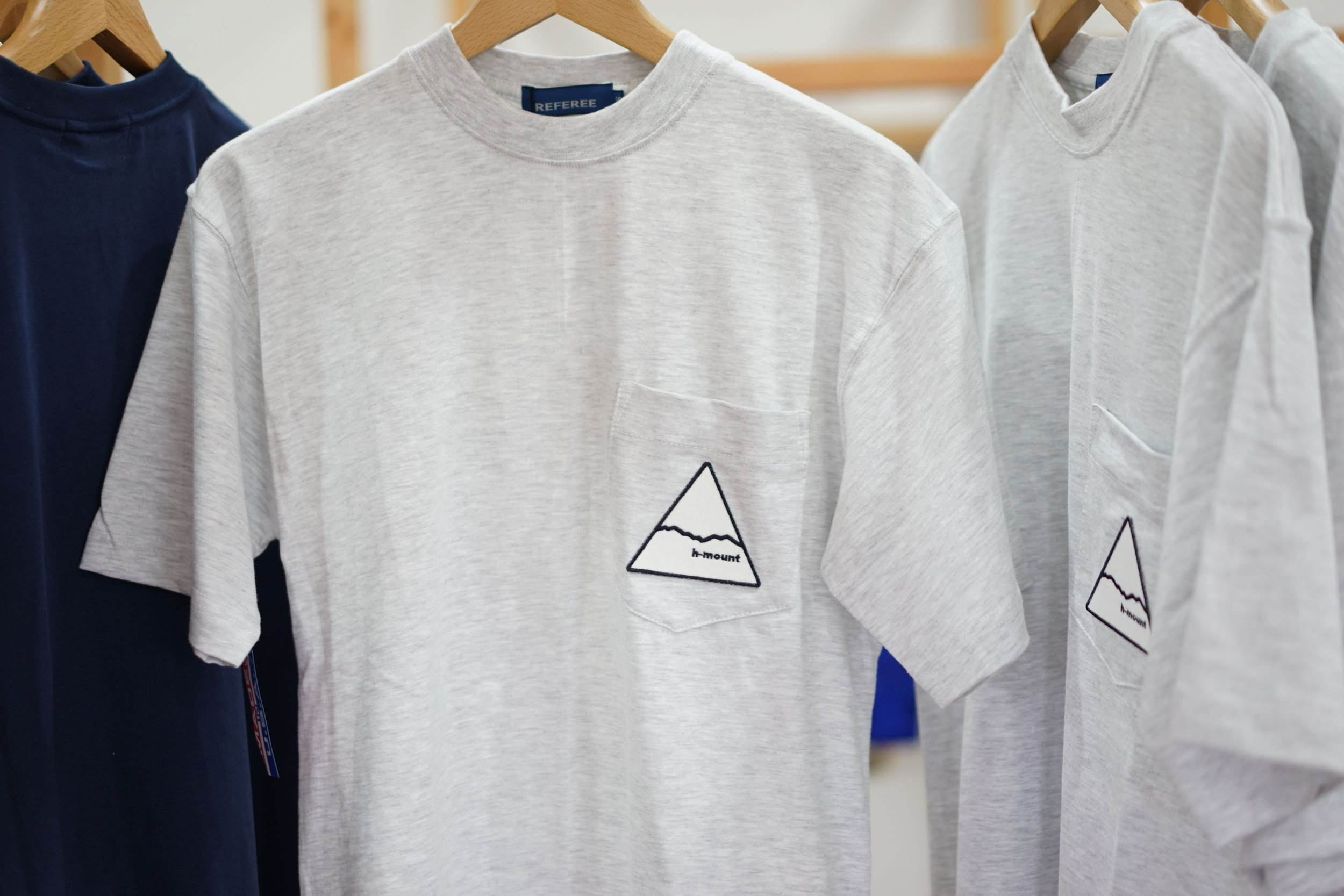COLOR:GREY,NAVY  SIZE:S,M,L  FABRIC:COTTON  ¥7,500+TAX