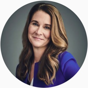 - Someone I've really been interested in and inspired by lately is Melinda Gates