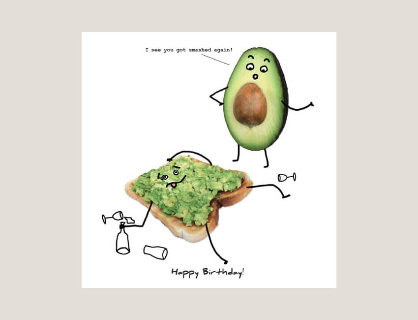 Slice of Life - Created by The London Studio, Slice of Life is a quirky illustrated series of bread-based characters.Each design offers a humorous twist on the usual greetings card caption that will have you grinning from ear to ear.