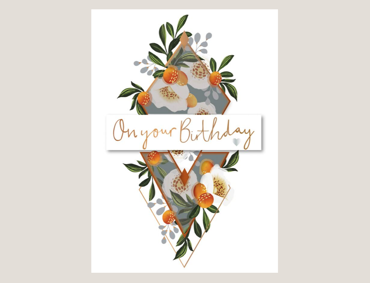Damson - This fresh and floral look from Talking Pictures is influenced by the huge trend for botanicals and is sure to be popular with customers of all ages.Each die cut design features gold foil, velum, a tip-on and a gem, with a lilac envelope to top off the elegant final finish.