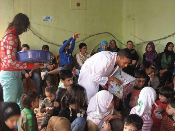 Elias working with refugee camps in Lebanon (Ein El Hilweh & Rashidieh Camp)