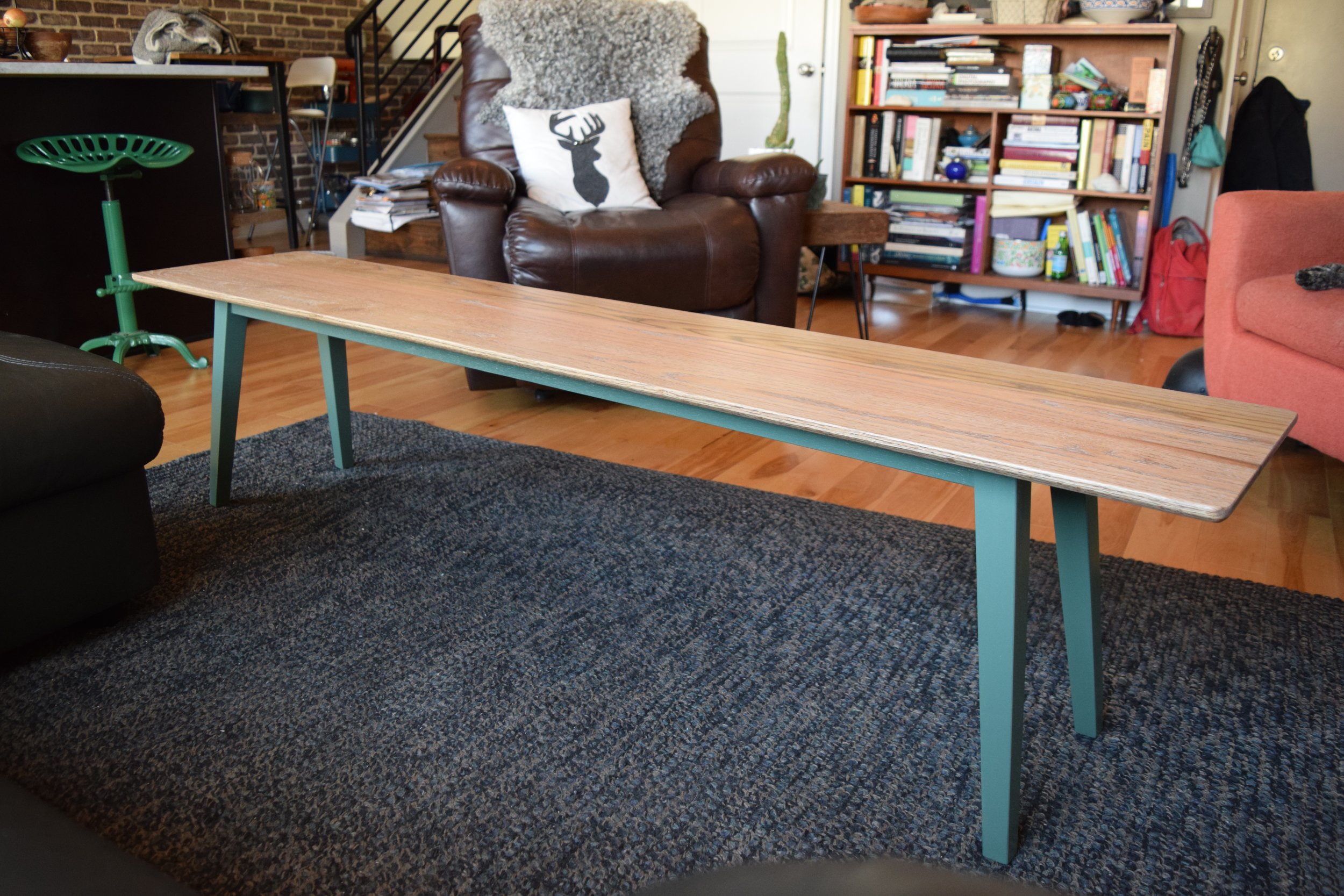 - weathered oak coffee table