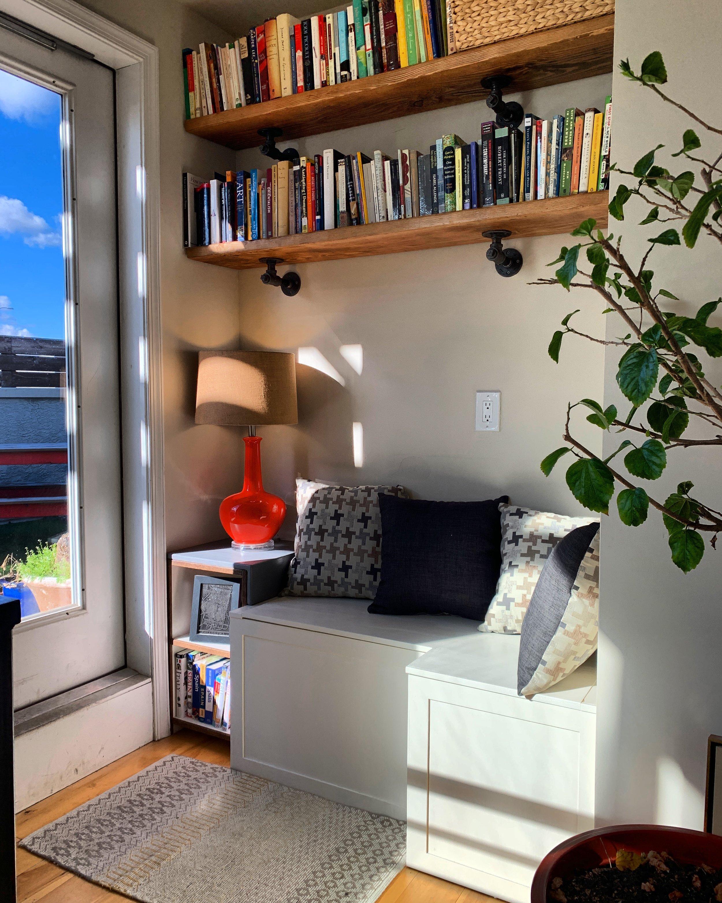 - Shelves