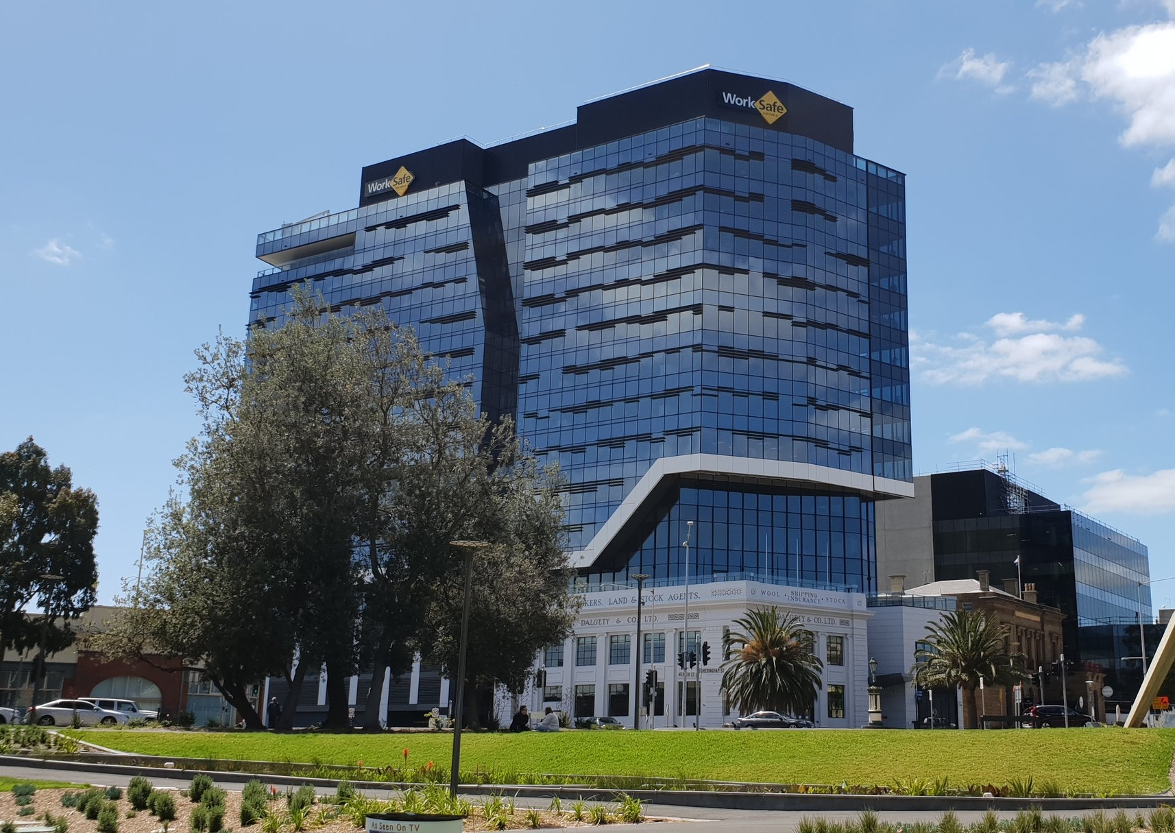 The brand new 12 story WorkSafe building is the tallest building in Geelong.