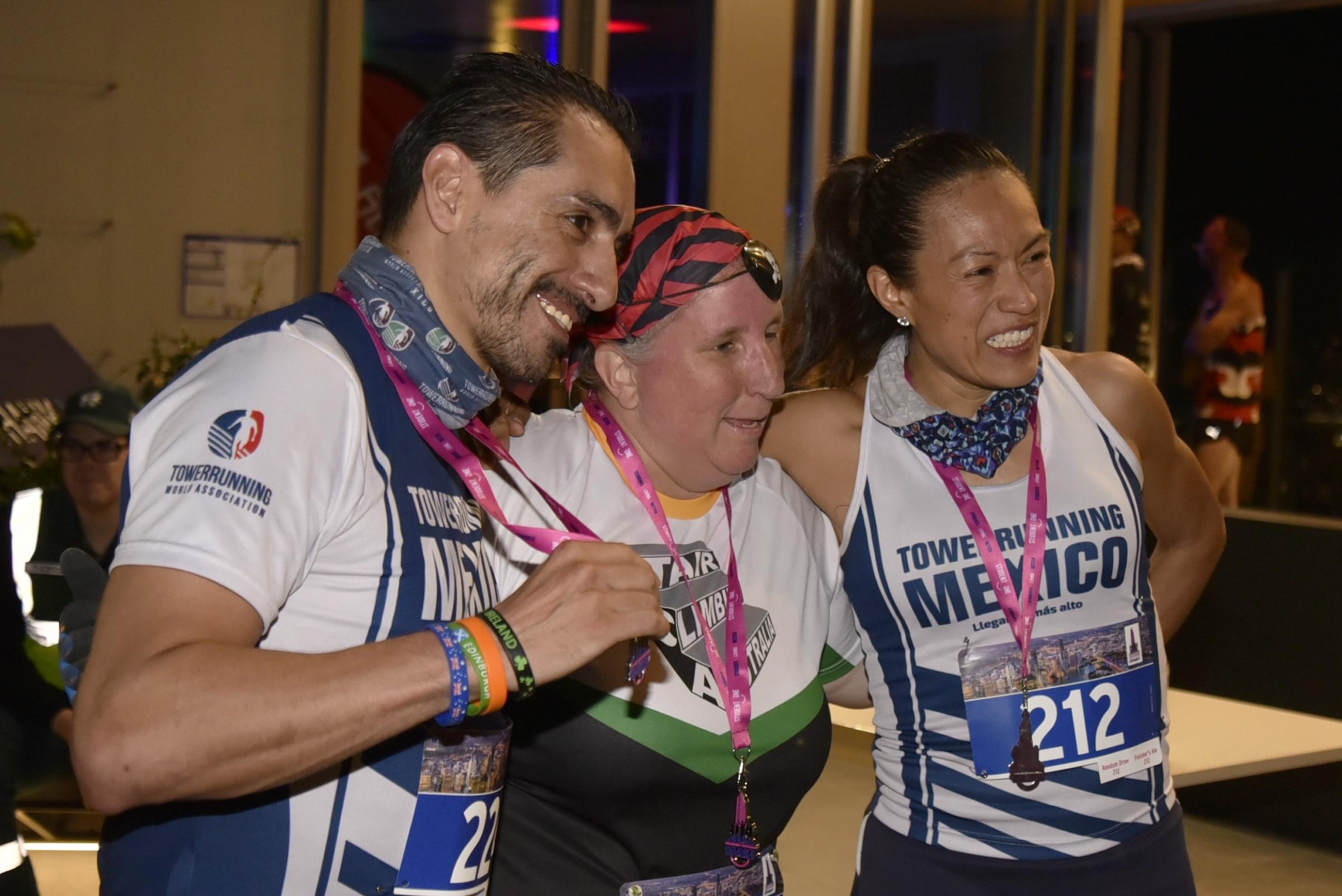 Arturo and Alejandra from Mexico with SCA's Vanessa.