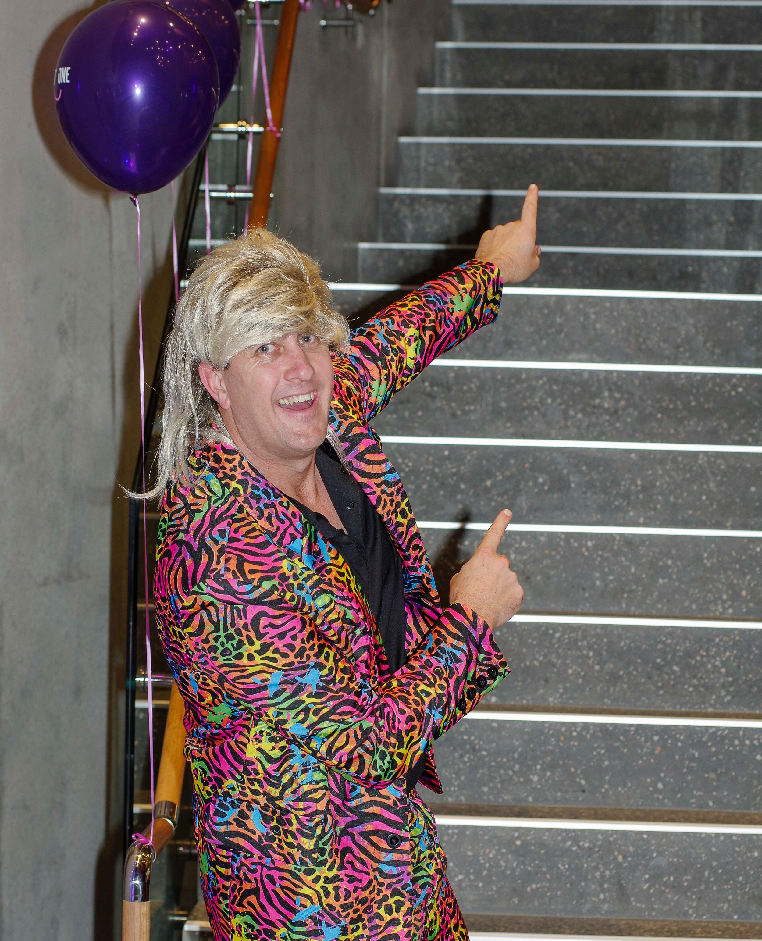 Event organiser Steve Corrie dressed up for the night.