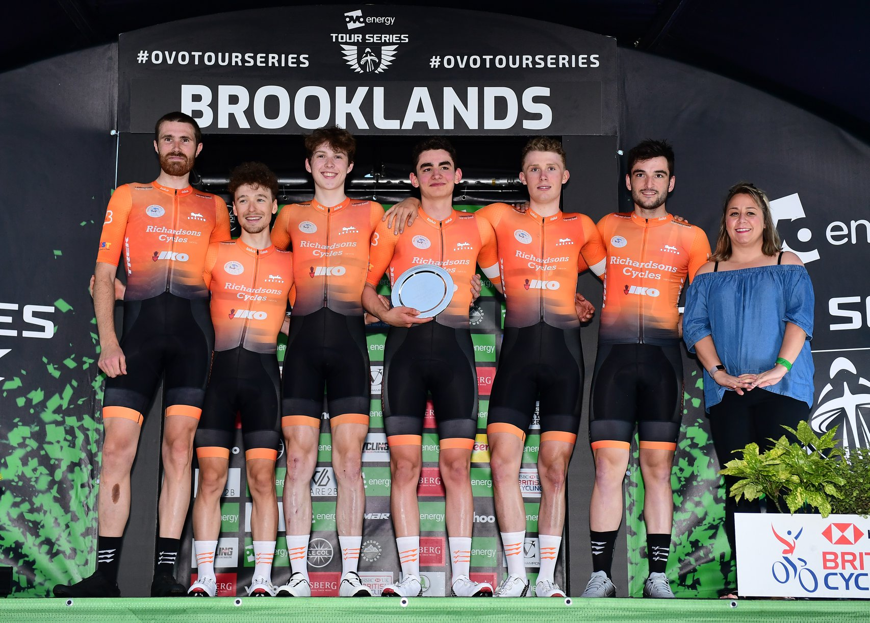 Richardsons-Trek winning the Southern Guest Team prize at the 2019 Tour Series presentation at Brooklands