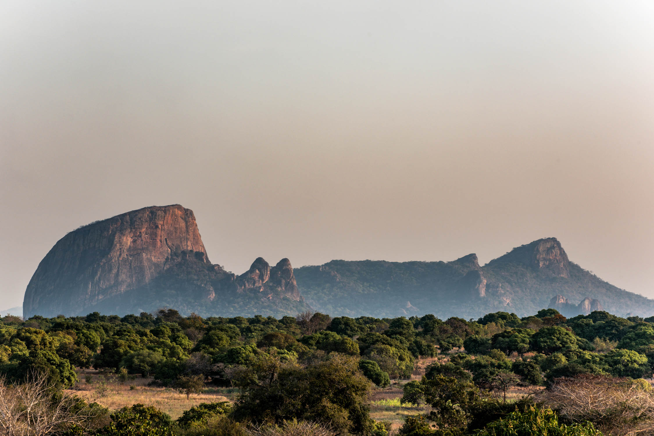 Granite Inselberg in the Selous – Niassa Wildlife Corridor.