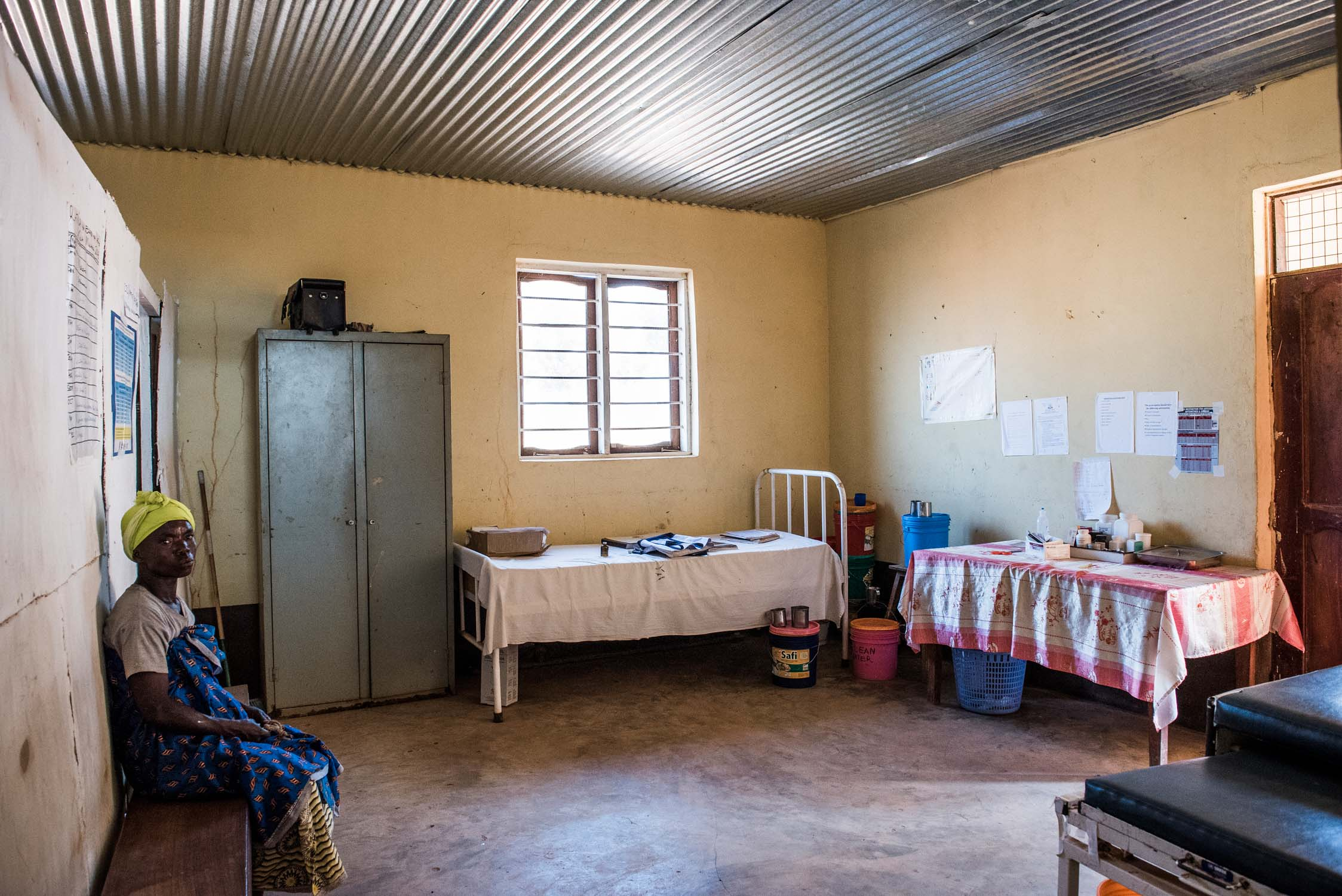 A former office of a Wildlife Management Area is used as a hospital, due to desperate need of medical care in Mochomoro.