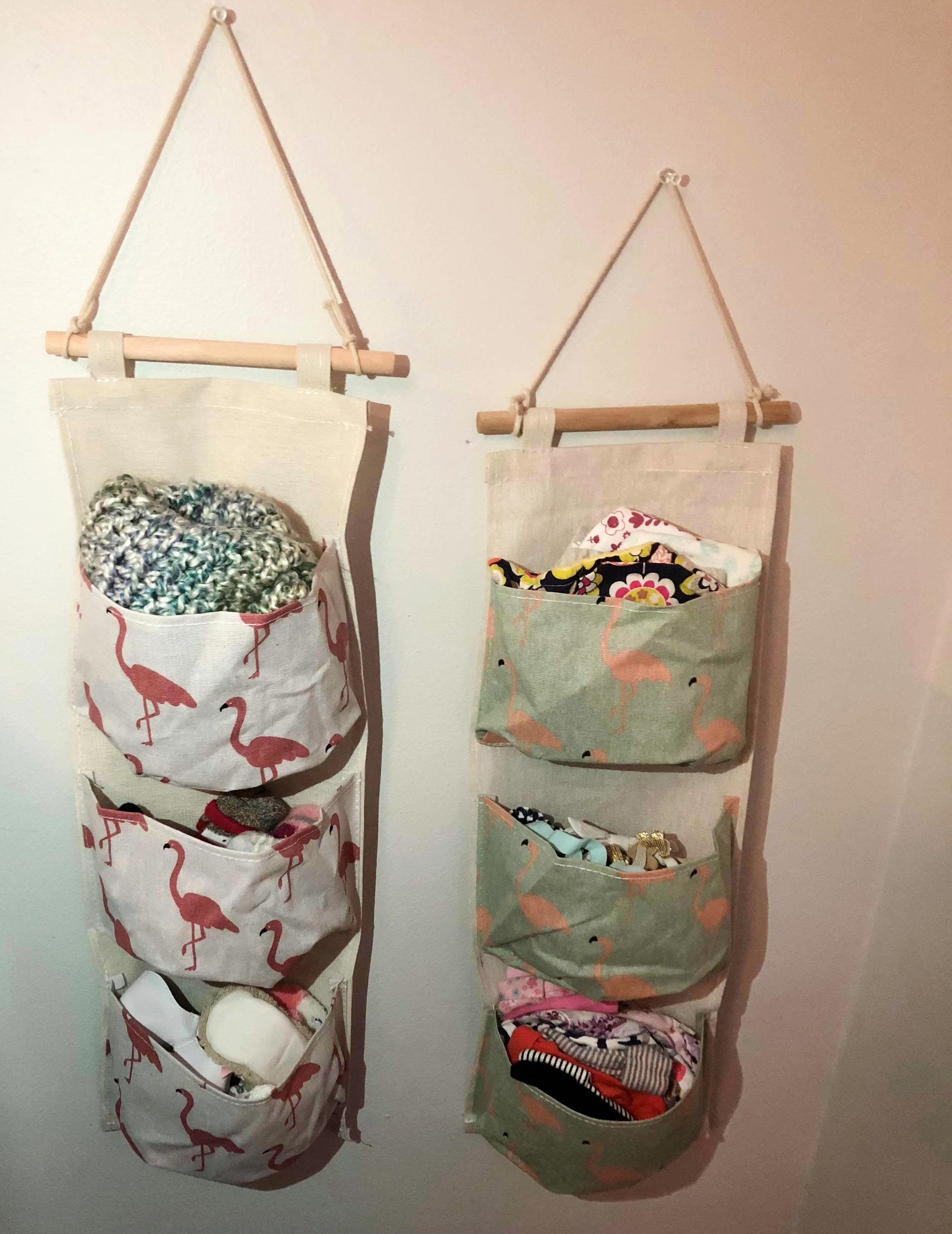 Easy Storage - 1. Fabric Hanging Storage Bags: Amazon