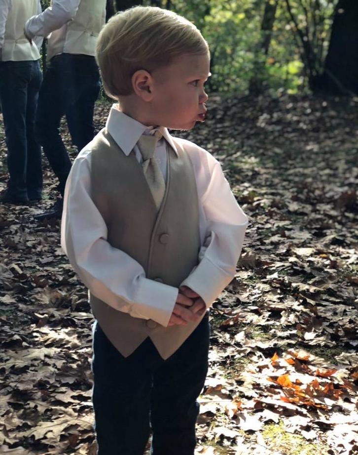 Toddler Ring Bearer Outdoor Wedding
