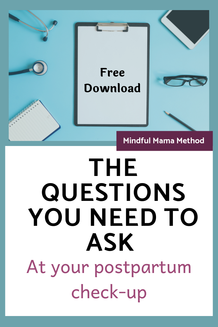 postpartum check up question list