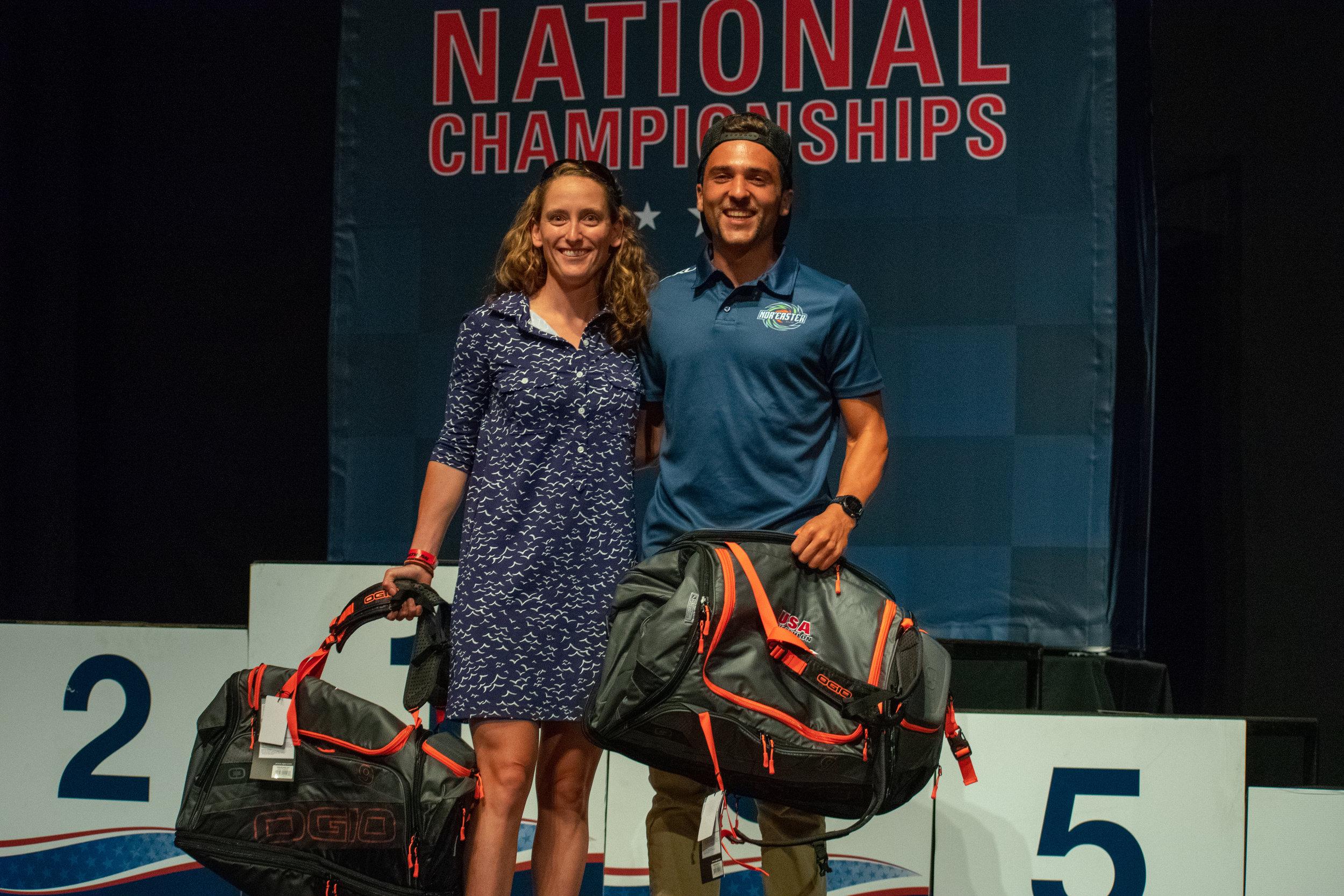 Team Nor'easter Elite SWEEPS the podium for fastest transition times (Left: Caroline Knowles)