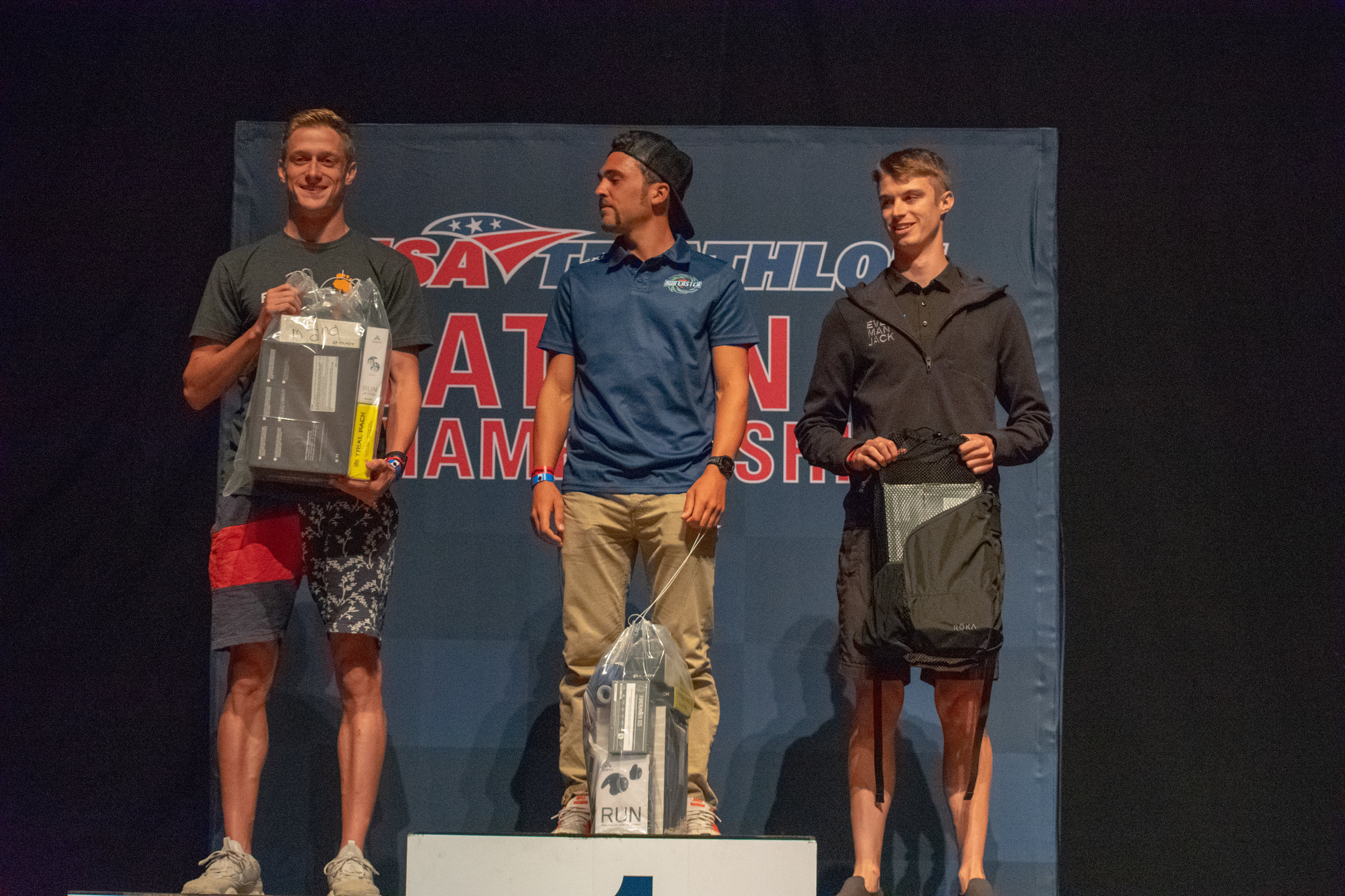 20-24 Age Group SWEEPS the overall podium. Also I am STILL not taller than these two giants (Left: Matthew Murray 2nd / Right: Nick Noone 3rd)