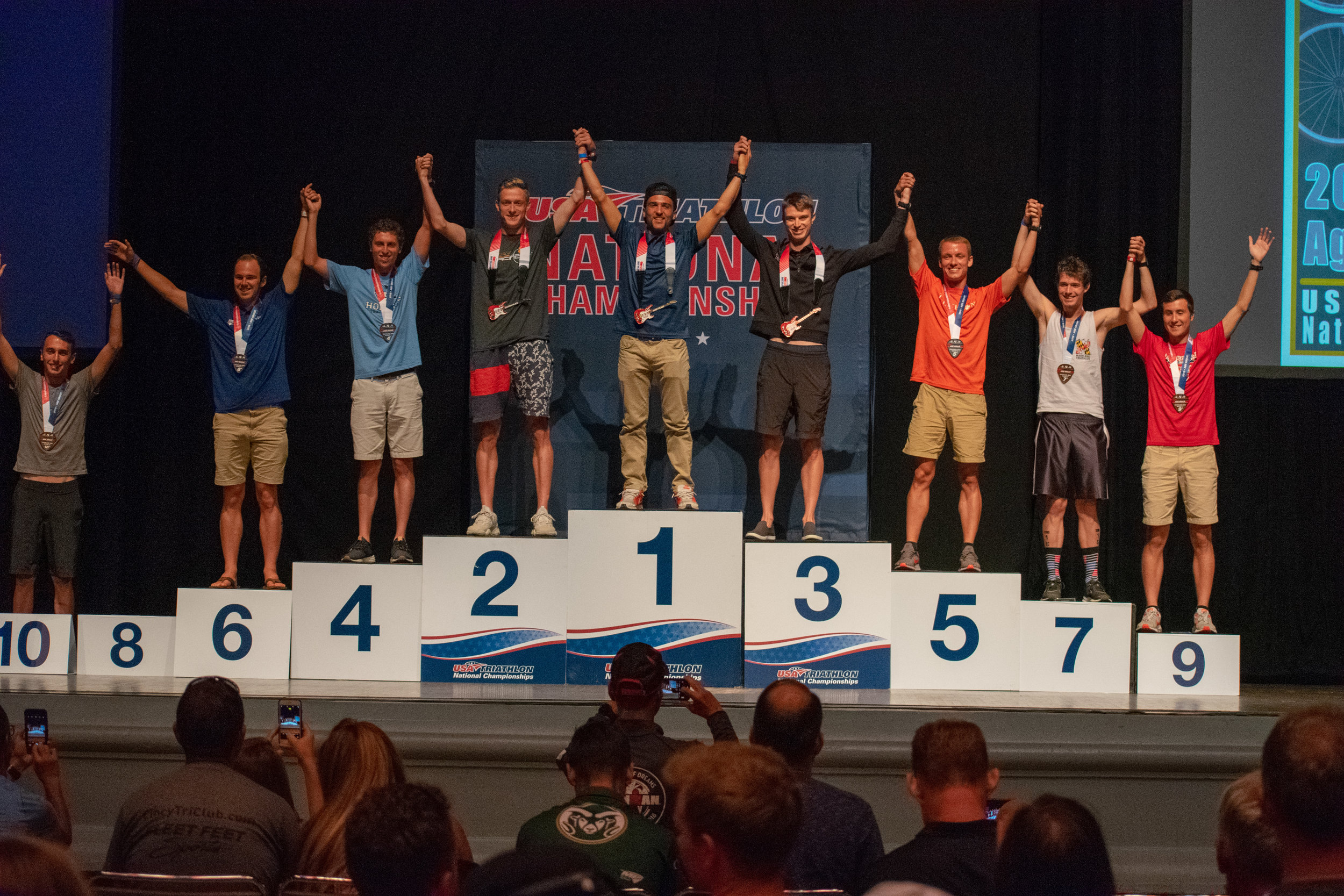 20-24 Age Group podium. (Peep fellow CLEMSON alum Jeff Case in 5th) (Also many good friends on this podium. Love these guys.) (Left to right: Tyler Woodward 10th, 8th missing, Matt Guenter 6th, Louis Levine 4th, Matt Murray 2nd, Me, Nick Noone 3rd, Jeff Case 5th, Andrew Frommer 7th, John Reed 9th)