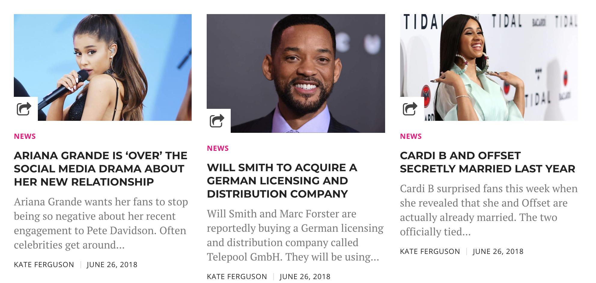 - Entertainment news writer:Fame Focus