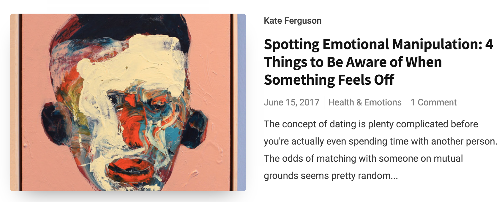 """- """"Spotting Emotional Manipulation: 4 Things to Be Aware of When Something Feels Off""""Published on Psych N Sex"""