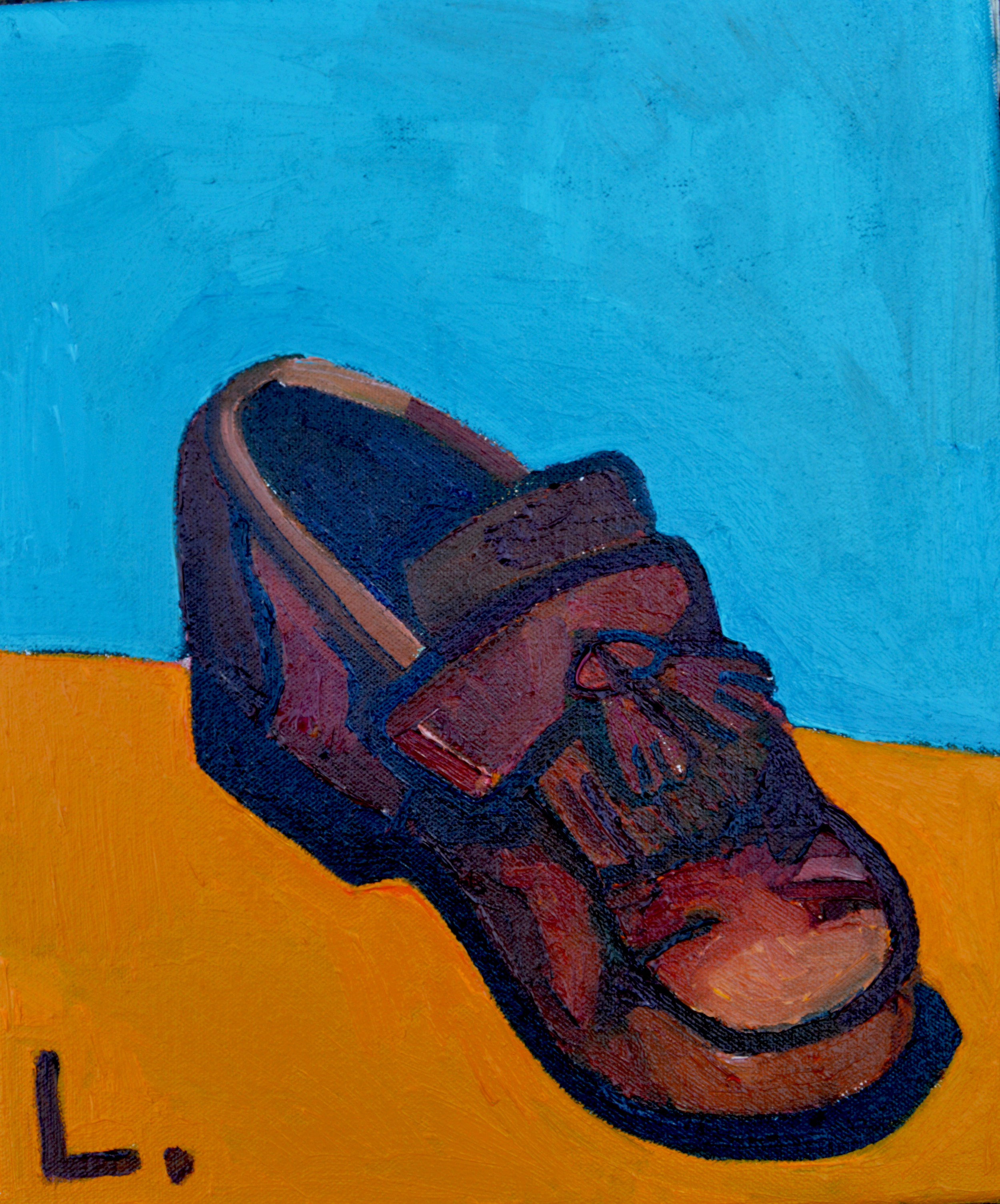 A pair of shoes Diptych (left shoe)