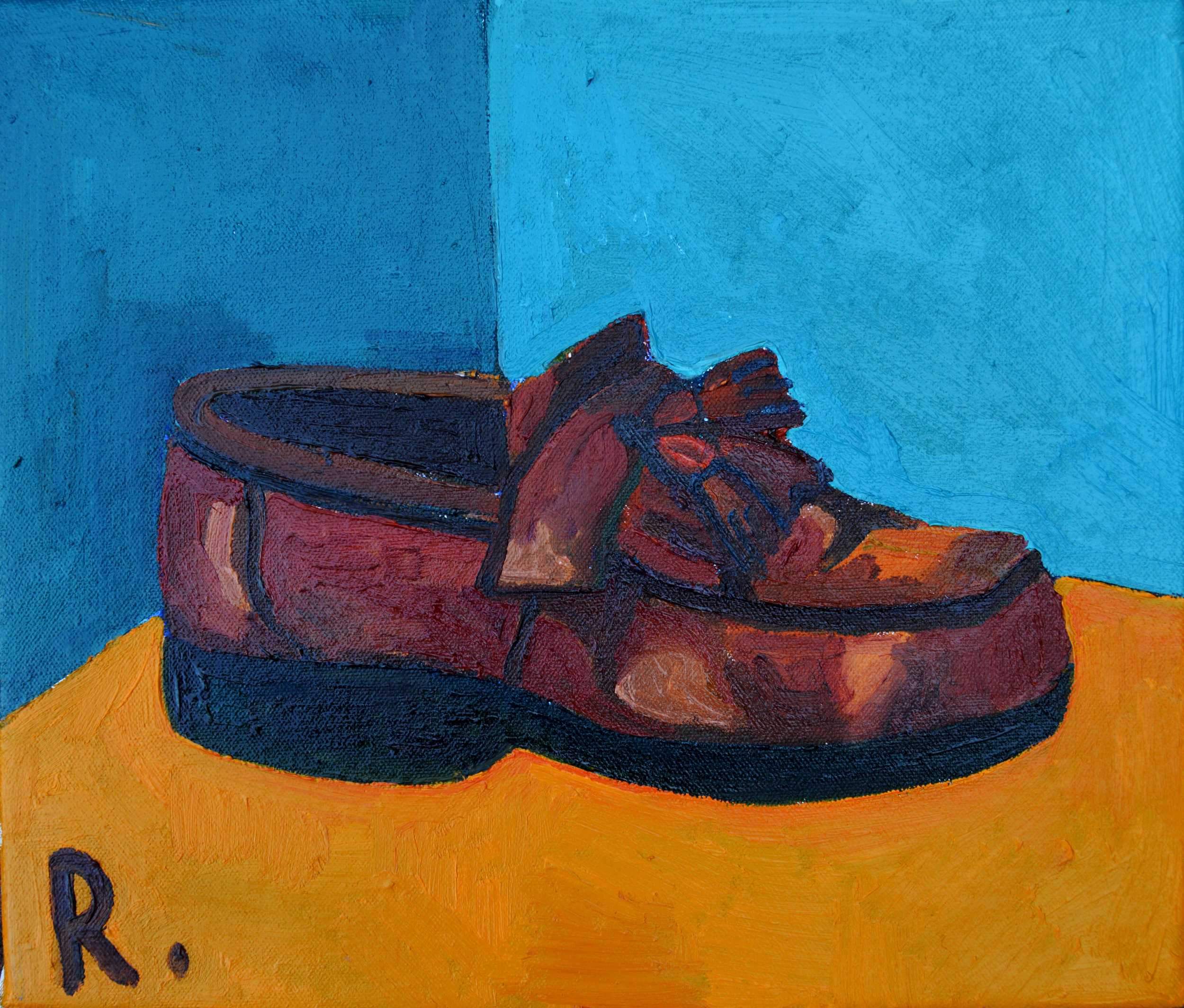 A pair of shoes Diptych (right shoe)