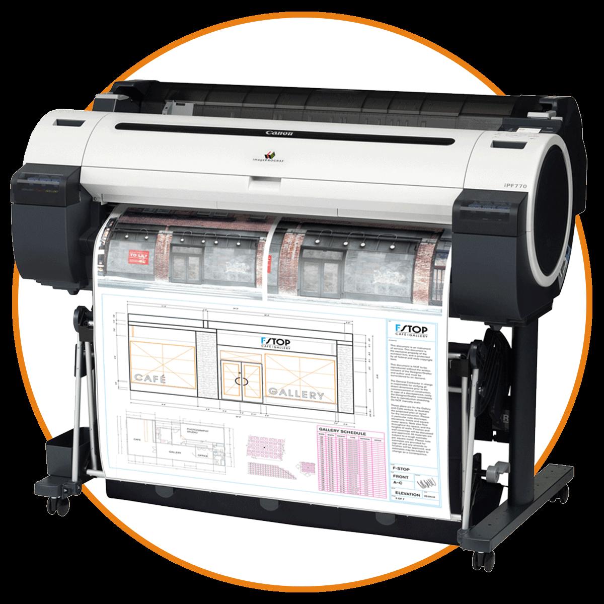 """Impresión - Trabajamos diversos tamaños de impresión digital a Color desde $3.50 y BW desde $1.50.24"""" × 18"""", 36'', 48'': Color / BW36"""" × 36"""", 48"""", 72"""": Color / BW"""
