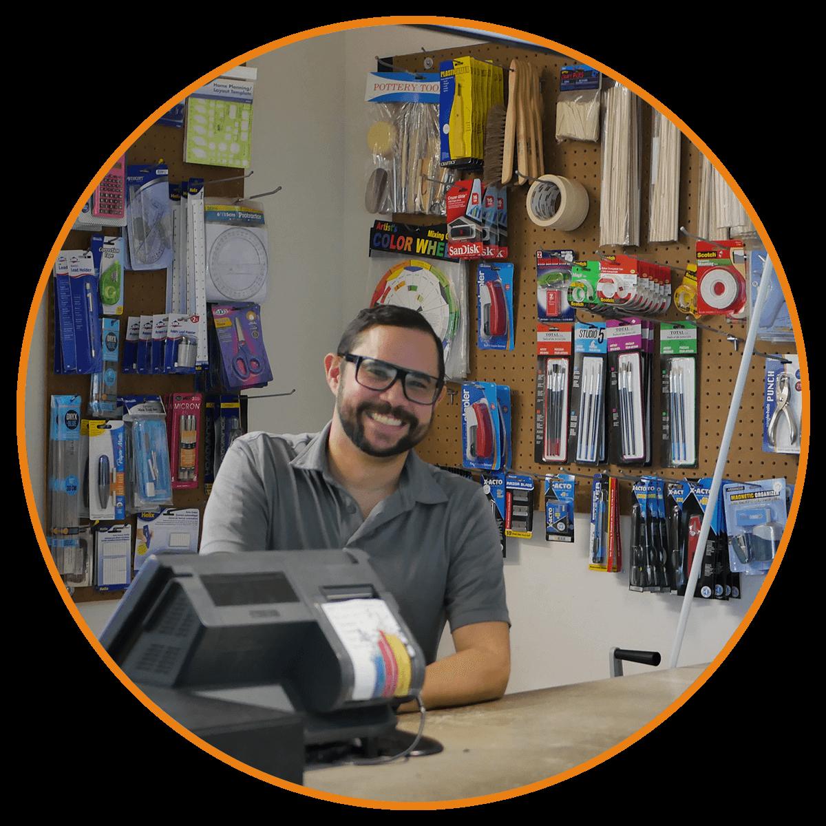 NOSOTROS - Fundada en el 2007 por el Arquitecto en Entrenamiento Edwin S. Gómez Vega. Esquicio Arqshop es una tienda dedicada a la venta de materiales de arquitectura, ingeniería, delineación arquitectónica, school supplies entre otras. En adición ofrecemos servicios de Laser cutter, impresión tridimensional, impresión de planos, confección de maquetas, encuadernación y fotocopias. Somos el One-Stop Shop para todos tus proyectos.