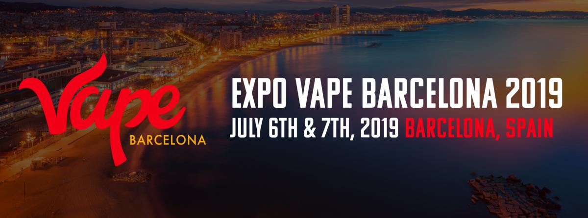 Vape Barcelona Expo - Vape Expo 2019 & Spain Vaping Convention Banner