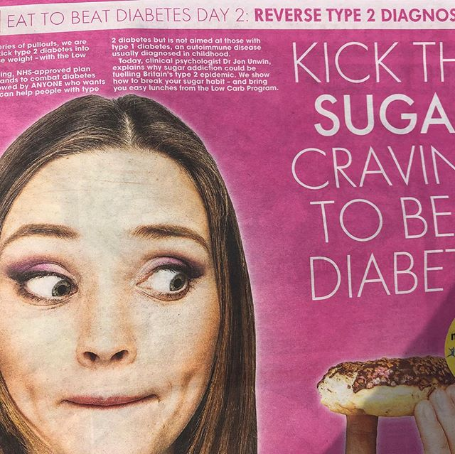 "Good for today's @thesun for publishing how to kick the sugar craving to beat #diabetes 🙌 Welcome the sensible advice by Dr Jen Unwin including not to ""fret over fat"". As long as it's #goodfats and not processed, oxidated oils you're #goodtogo as it won't elevate your #insulin allowing you to shift those pounds 👊🏻"
