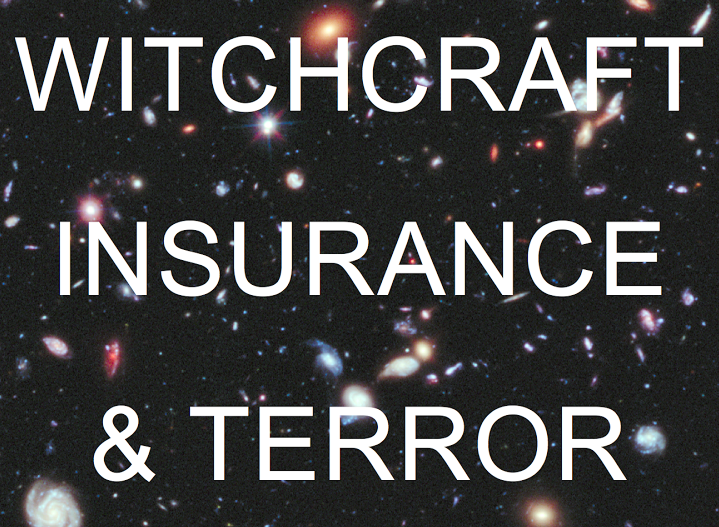 "Witchcraft, Insurance, and Terror   Department of Anthropology, Cornell University  ""A brutal typhoon kills 6,300 people in the Philippines!"" ""A lone wolf terrorist ends the lives of 77 people in Norway!"" ""A driverless train carrying 72 boxcars of crude oil explodes in Canada!"" All of these statements refer to events in which foreseeable and unforeseeable conditions intermingle, and intended and unintended acts mix. In a chance-filled world of unavoidable violence, this course asks: How do social institutions distribute responsibility for experiences of loss? Drawing on anthropological research, noir fiction, and the philosophy of design, this seminar aims to denaturalize the cultural production of misfortune and the quintessential spaces of its management, from insurance offices to climate conferences. Writing assignments will encourage students to ""think dangerously"" and to juxtapose academic texts alongside non-academic artifacts."
