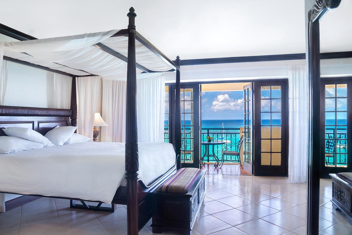 Honeymoon Haven Oceanfront Suite  Lavish suite overlooking direct ocean vistas and personalized butler service.  Starting at $411.00/per night