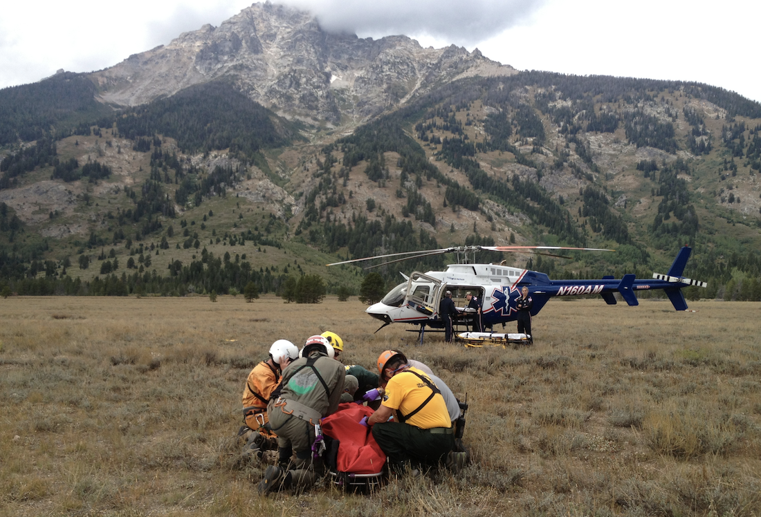 SAR finds their target. Photo: NPS