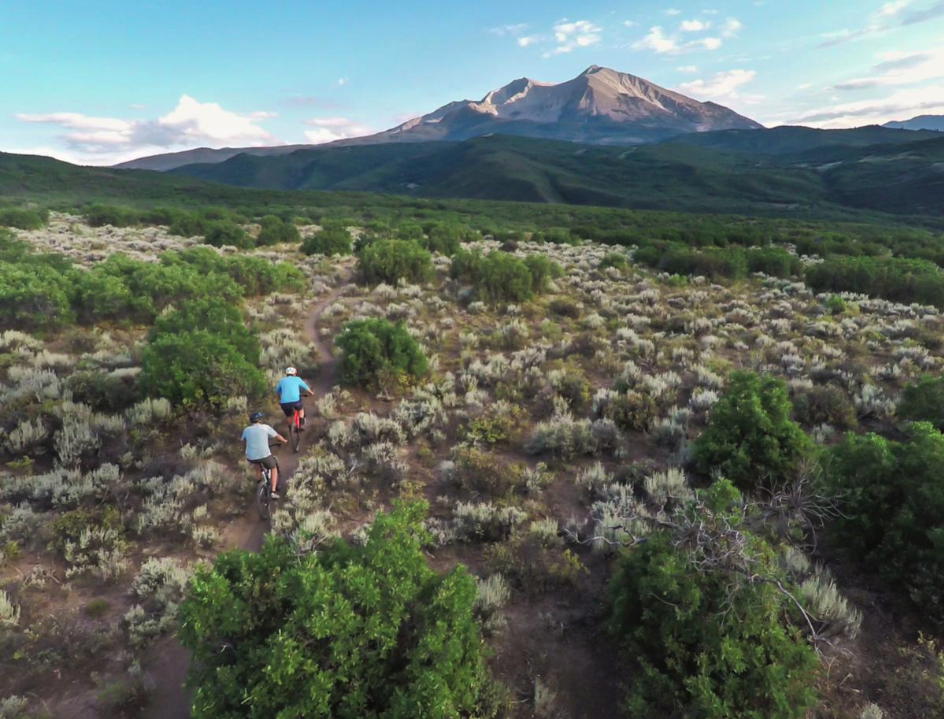 Mountain bikers on the Crown, public lands managed by the Bureau of Land Management. A new federal order is calling for all agencies under the Department of the Interior to allow e-bikes wherever non-motorized bicycle can go.  Courtesy BLM