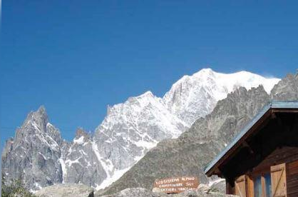 Roads were closed and mountain homes were evacuated on Wednesday in anticipation of the collapse of a glacier on Italy's Mont Blanc. Photo courtesy of Courmayeur/Official Tourist Office.